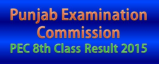PEC 8th Class Result 2015 All District of Punjab