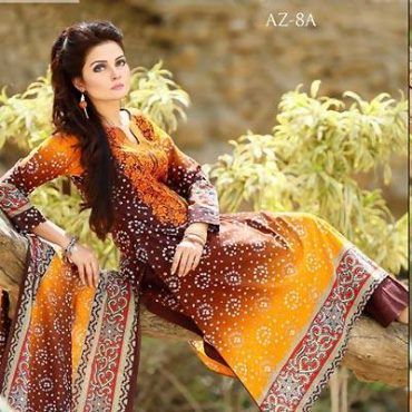 Azra New Summer Lawn Dresses 2015 for Girls