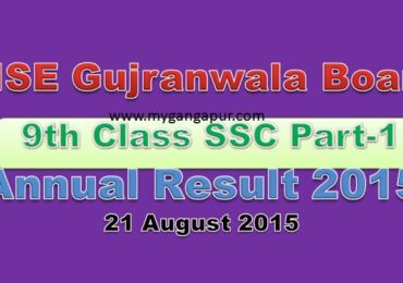 BISE Gujranwala Board 9th Class annual Exam Result 2015
