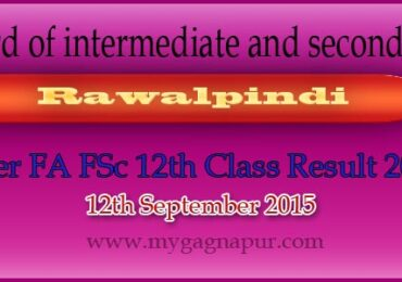 Bise Rawalpindi Board FA FSC 12th Class annual Result 2015