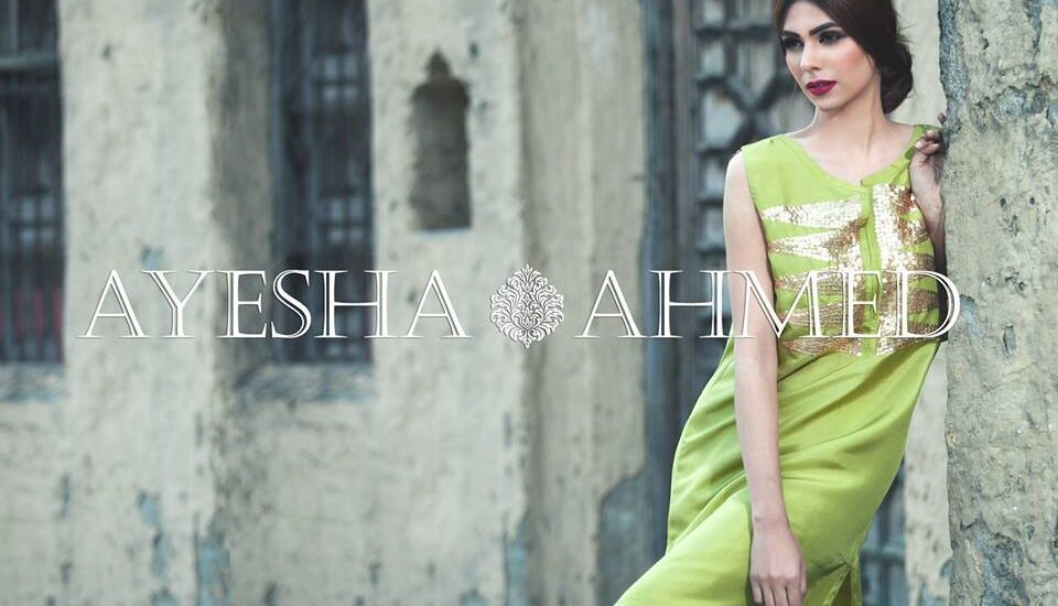 Ayesha Ahmed Formal Silk Dresses 2017 For Women