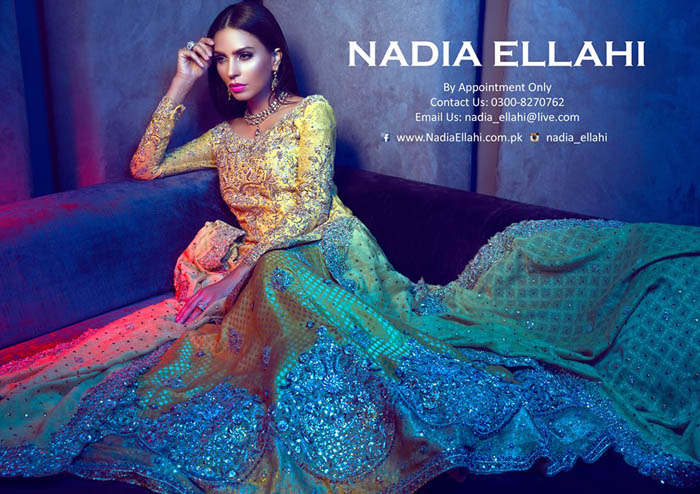 Nadia Ellahi Pakistani Bridal Wear Dresses 2016 Design