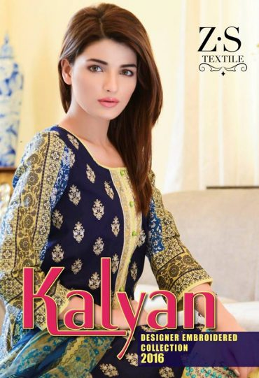 Kalyan Embroidery Summer Collection 2016 by ZS textile