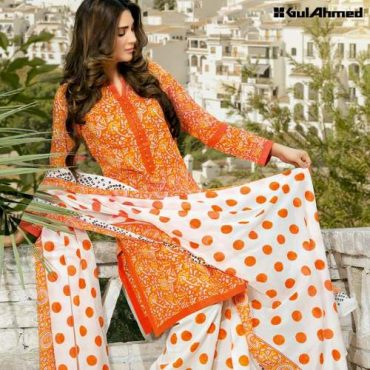 Gul Ahmed Exclusive Spring Summer Block Print Collection 2016