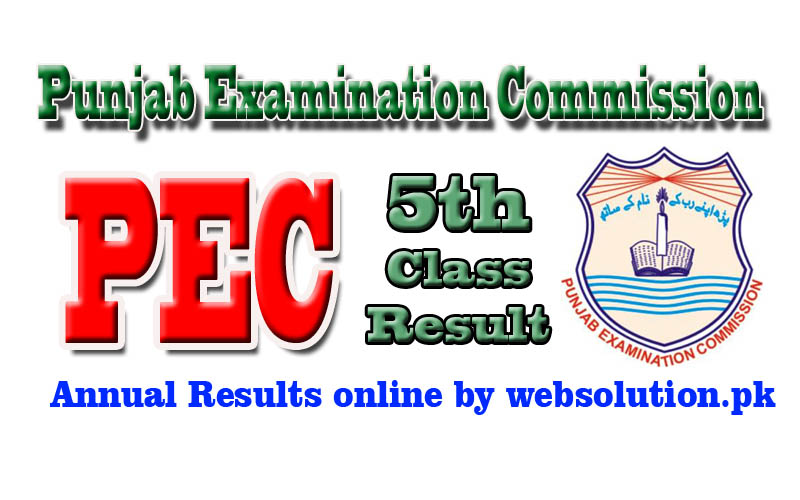 Lahore PEC 5th Class Result 2017 by Punjab Examination Commission