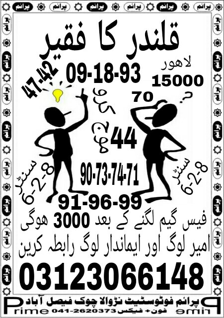 Ziddi Murshid 15000 Prize bond Guess Papers 2017