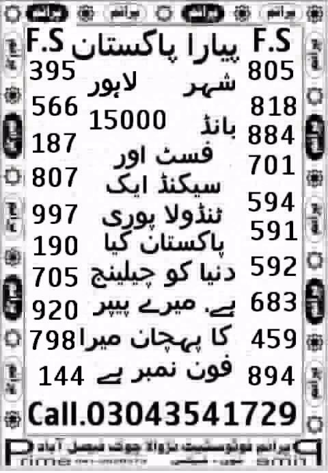 Prize bond Ziddi Murshid 15000 Guess Papers 2017 (1)