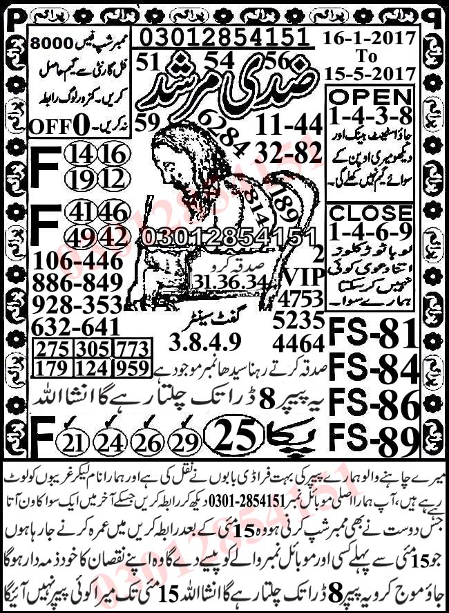 Prize bond Ziddi Murshid 15000 Guess Papers 2017 (4)