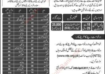 Punjab Police Station Assistant Jobs April 2017 NTS Application Form Download