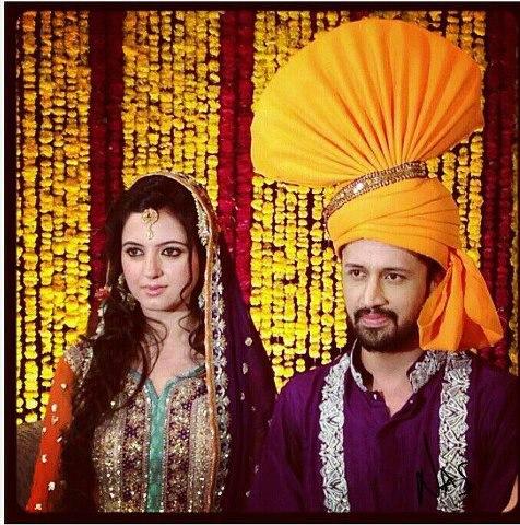 Atif Aslam and fiance Sara Bharwana