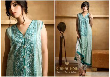 Latest Eid Collection from Crescent Lawn for Women