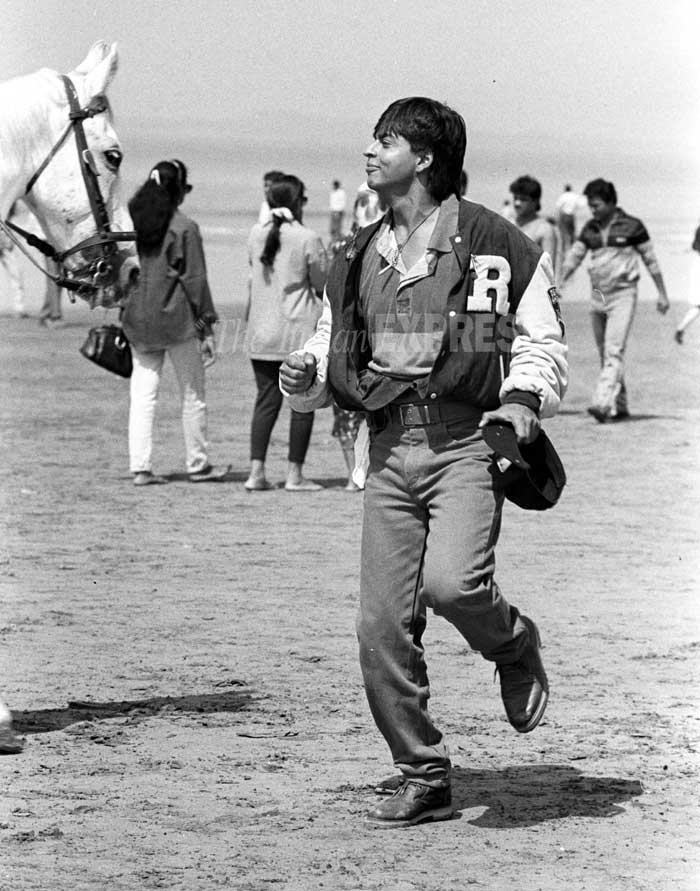 Shahrukh Khan on the set of a Movie