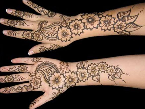 Arms and Hands Mehndi Designs