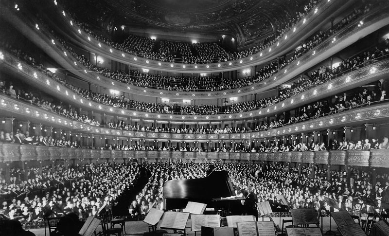 INSIDE THE OLD METROPOLITAN OPERA HOUSE