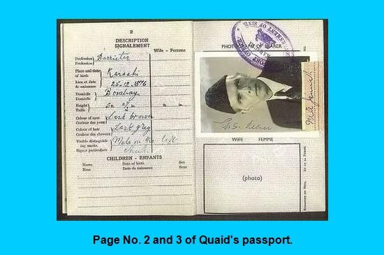 Inside the Passport of Muhammad ALi Jinnah