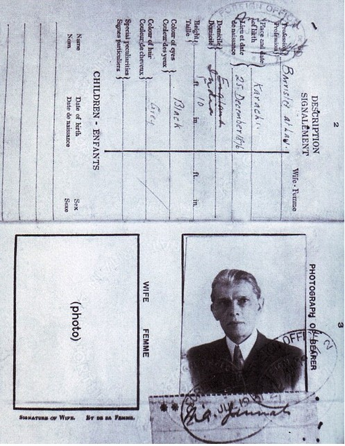 Memorabilia of Quaid e Azam Muhammad Ali Jinnah An earlier passport of Quaid Personal items of Jinnah