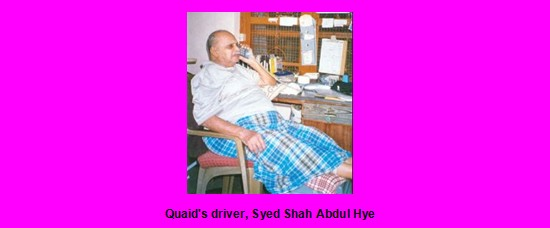 Memorabilia of Quaid e Azam Muhammad Ali Jinnah Quaids driver Syed Shah Abdul Hye Memorabilia of Jinnah
