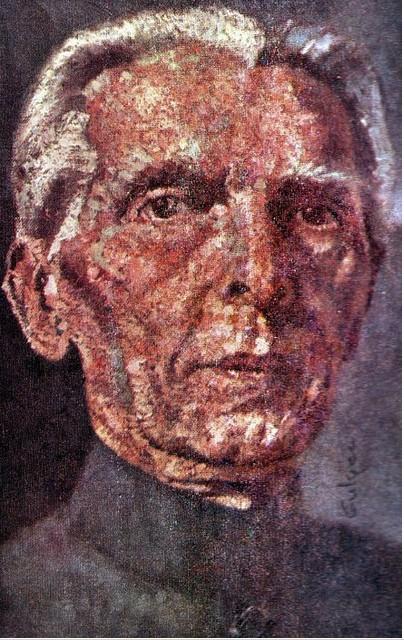 Portrait of Muhammad Ali Jinnah by Gull ji