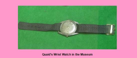 wrist watch of Muhammad Ali Jinnah