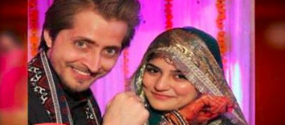 Wedding Pictures of Sanam Baloch with Husband Abdullah FarhatullahWedding Pictures of Sanam Baloch with Husband Abdullah Farhatullah