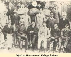Allama Iqbal at Islamia College Lahore Group Photo