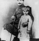 Allama Iqbal With his Son Rear Photo