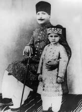 Allama Iqbal With his Son Rear Photo