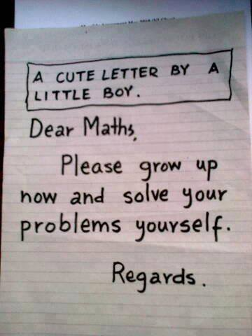 Funny Latter to Mathimatics, Funny Wallpaper