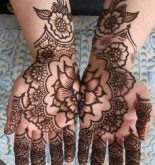 Two Hands Flower Mehndi Design