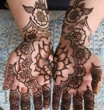Two Hands Flower Mehndi Design