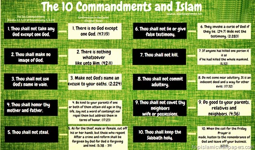 10 Commandments and Islam, Beautiful Islamic Wallpaper collection