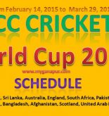 All Time Fixtures, Schedule of ICC Cricket World Cup 2015