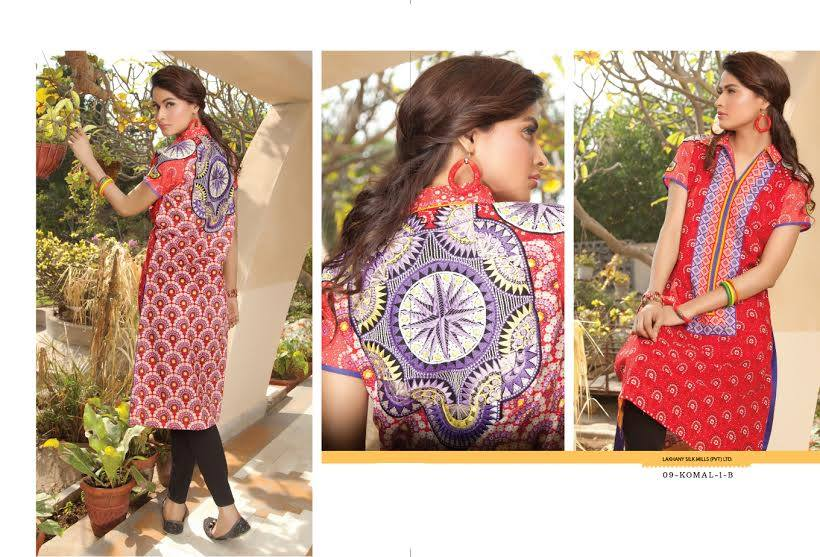 LSM Fabrics Latest Komal Embroidered Kurtis 2015 for Girls (10)