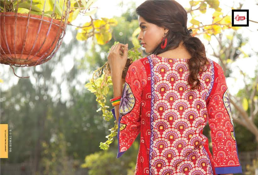 LSM Fabrics Latest Komal Embroidered Kurtis 2015 for Girls (1)