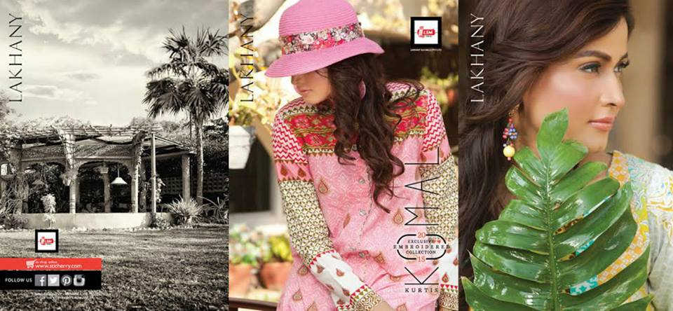 LSM Fabrics Komal Embroidered Kurtis 2015 for Girls