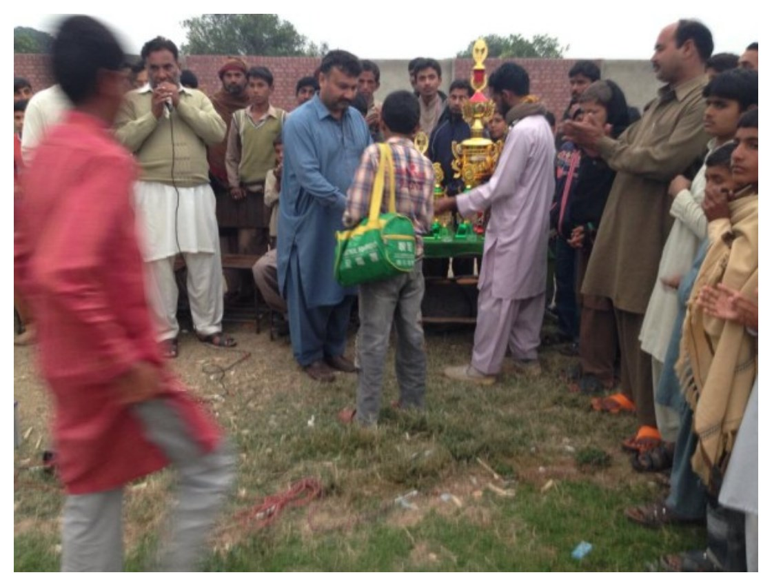 Gangapur Sufi Noor Hussain Tahiri's Hockey Tournament Winning Trophy Pictures