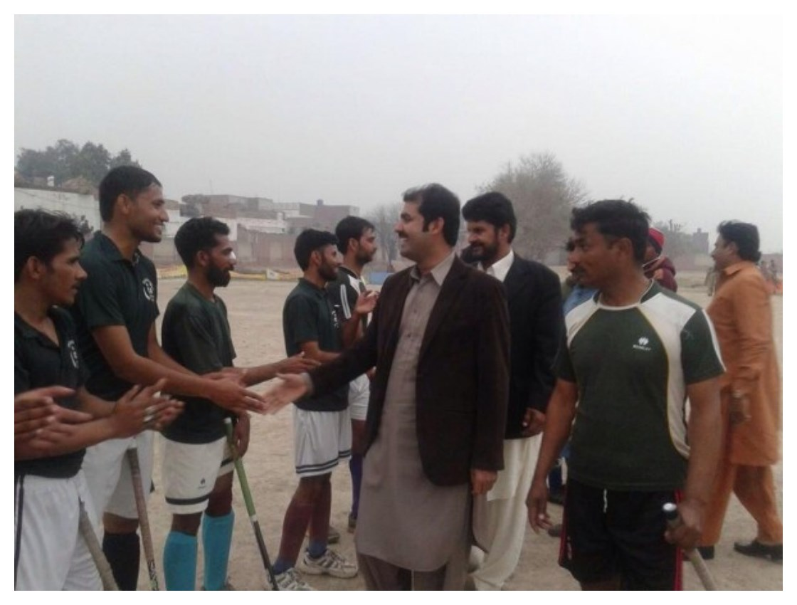 Mian Muzammal at Sufi Noor Hussain Tahiri's Hockey Tournament