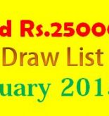 Karachi Prize Bond Result Rs 25000 2nd February 2015 List