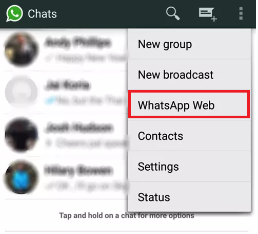 Use whatsapp on your Computer