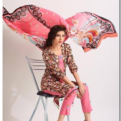 Azra Colorful Summer Lawn Wear Dresses 2015 for Girls