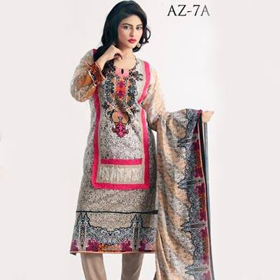 Azra New Summer Lawn Dresses 2015 for Girls (2)