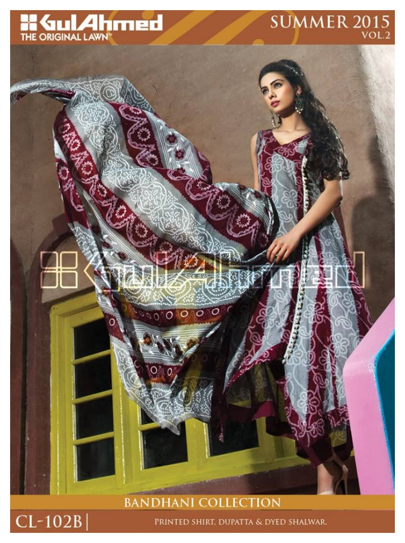 Girl Lanw suit by Gul ahmad