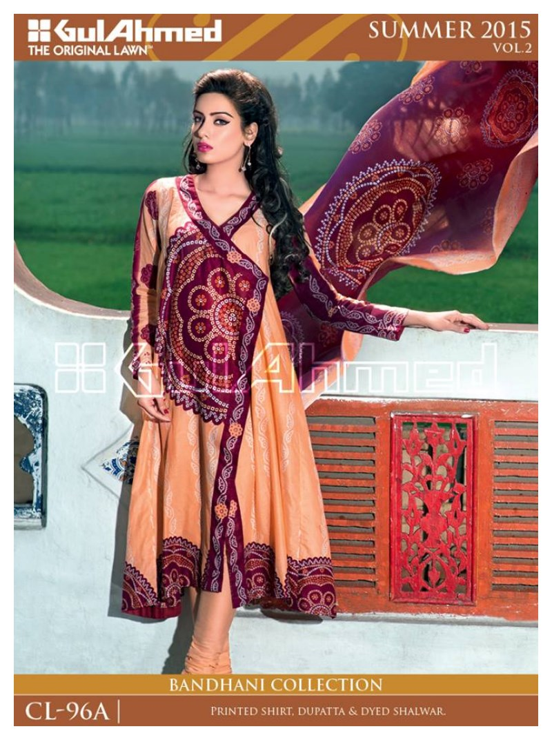 GulAhmed Bhandhani Summer Lawn 2015 for WOmen