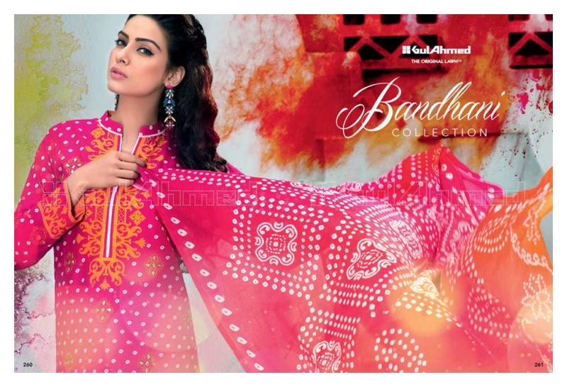 Latest GulAhmed Bhandhani Summer Lawn 2015
