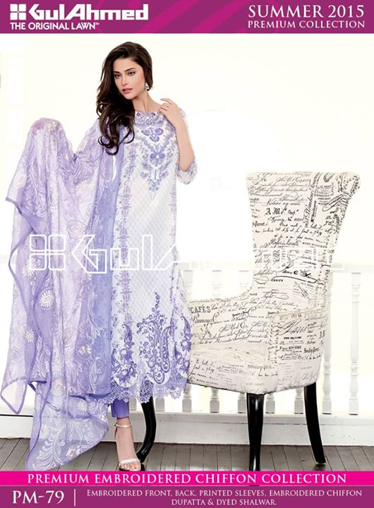 Gul Ahmed Spring Summer Lawn Collection 2015 (2)