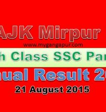 BISE AJK Board Matric 9th and 10th Class Result 2015