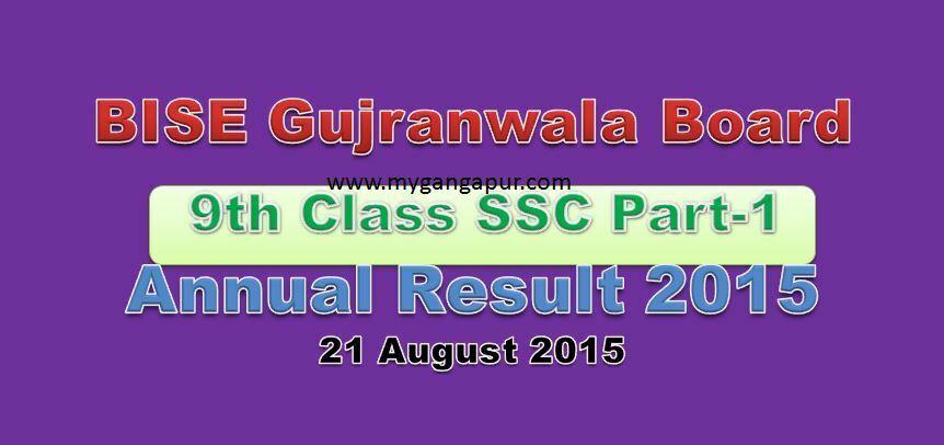 Gujranwala Board Result 2015