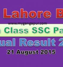Lahore Board 9th Class Result 2015 www.biselahore.com