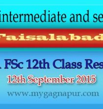 Faisalabad Board FA FSC Part 1 & 2 Result 2015