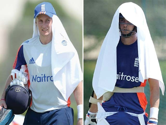 Heat of Dubai sweated England Team heavily